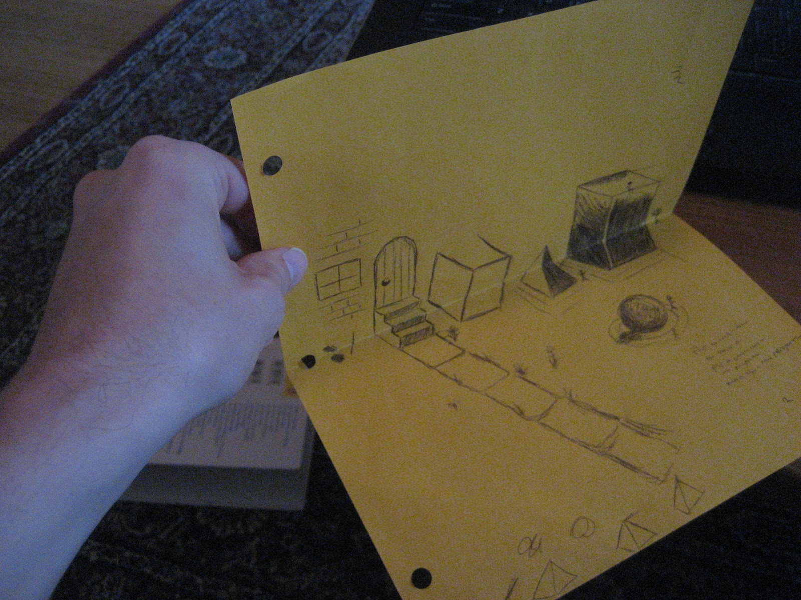 Drawn paper looks 3d Chuck 2D  drawing Does