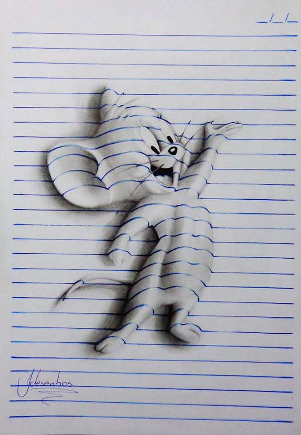 Drawn paper looks 3d #8