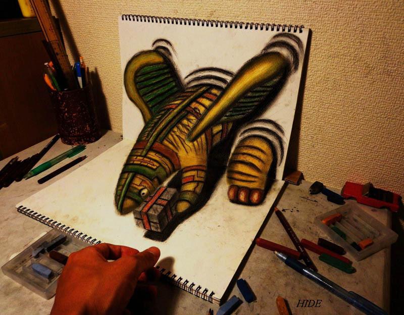 Drawn 3d art mind blowing #1