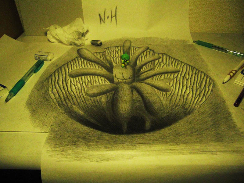 Drawn paper mind blowing «TwistedSifter in 3D drawings Pencil
