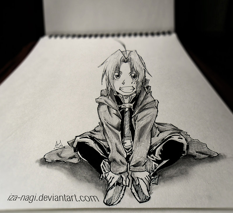 Drawn paper mind blowing Edward Art Sketch by LIFE