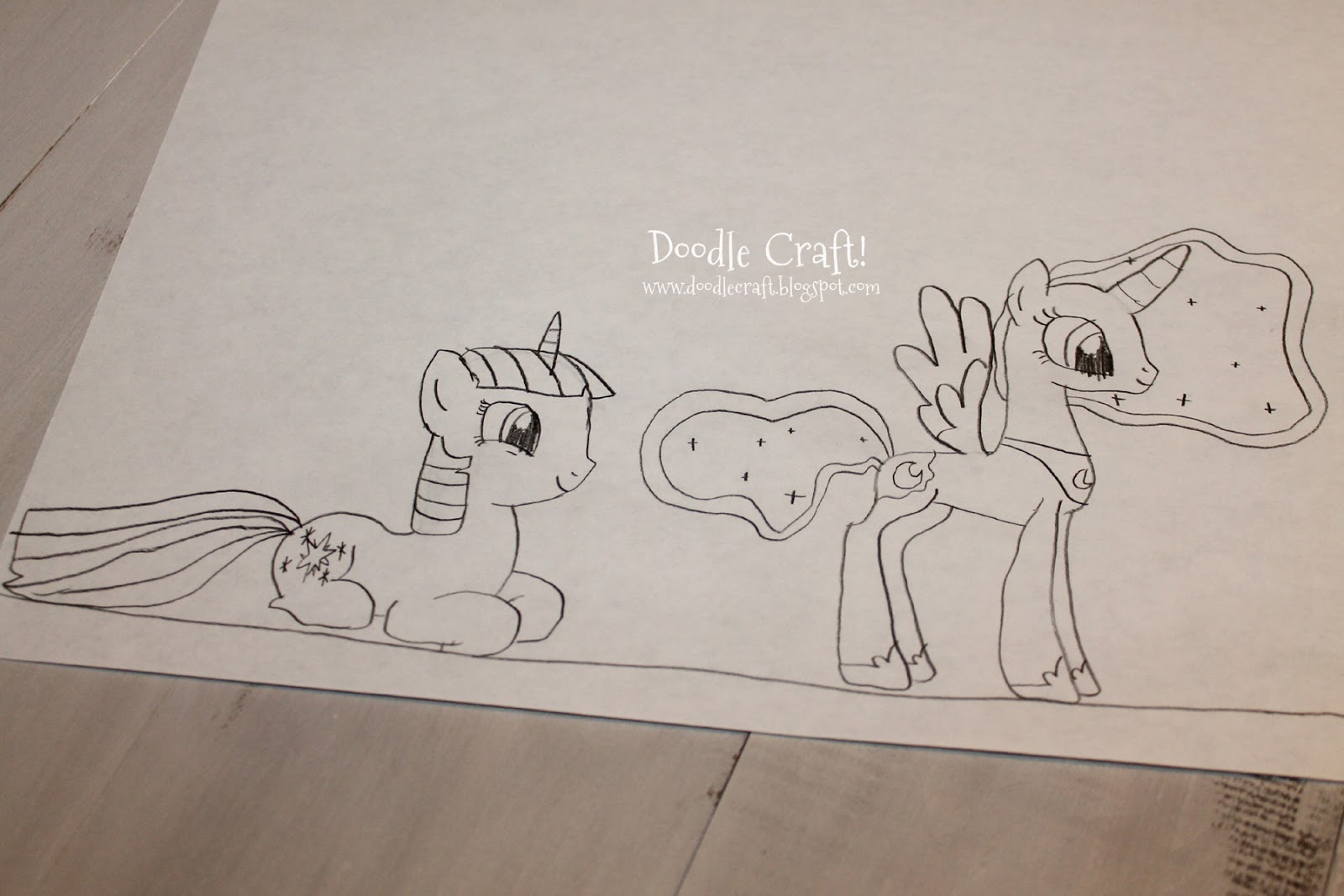 Drawn paper mlp Pony! Design More old daughter: