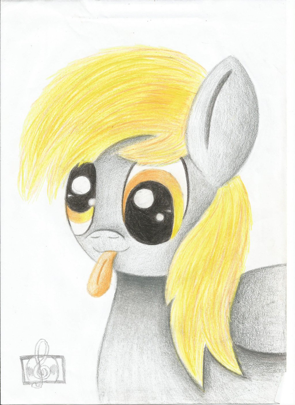 Drawn paper mlp In by  in paper
