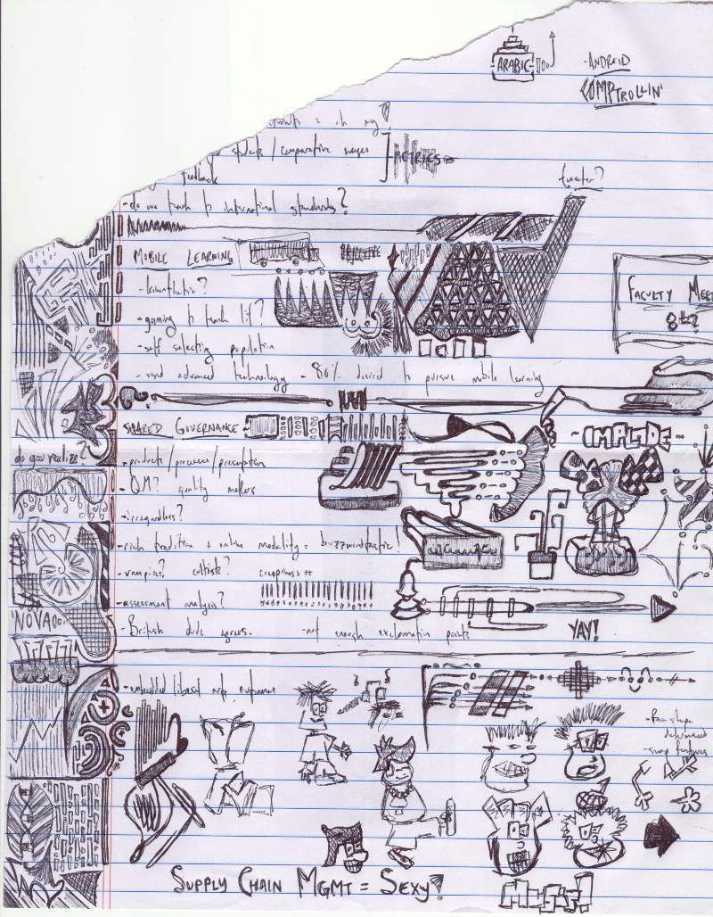 Drawn paper note book The and inked game dev