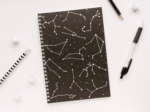 Drawn paper note book Journal and Black // for