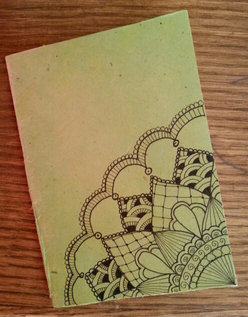 Drawn paper note book In paper rice in notebook