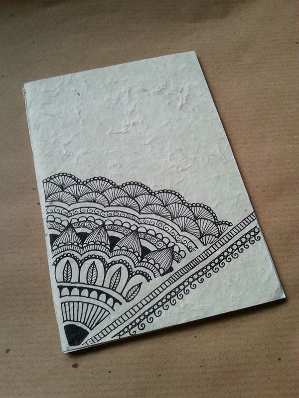 Drawn paper note book Cover paper rice in paper
