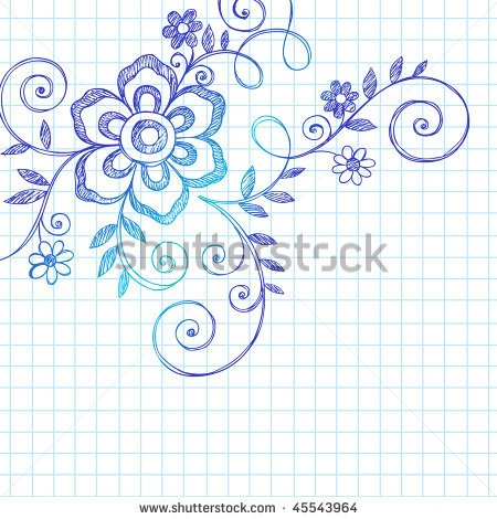 Drawn paper note book Design and Flower Abstract notebook
