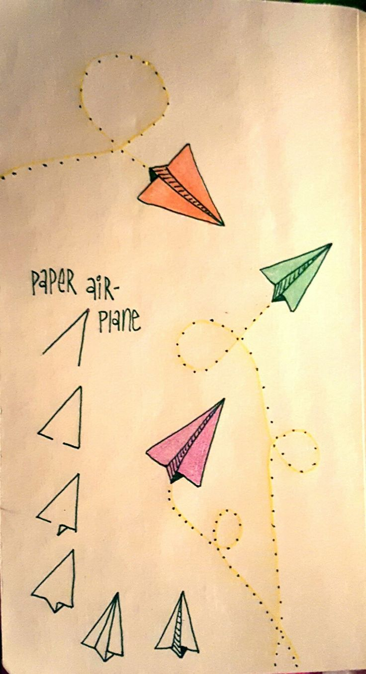 Drawn paper paper step by step #8