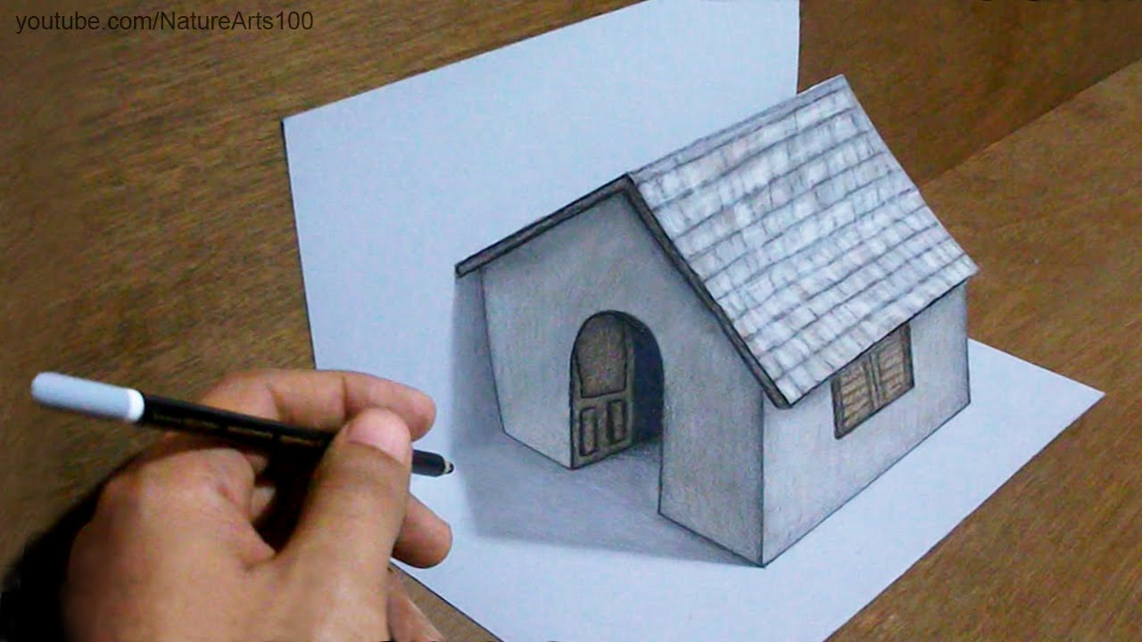 Drawn 3d art awesome Art Drawing Tiny 3D on