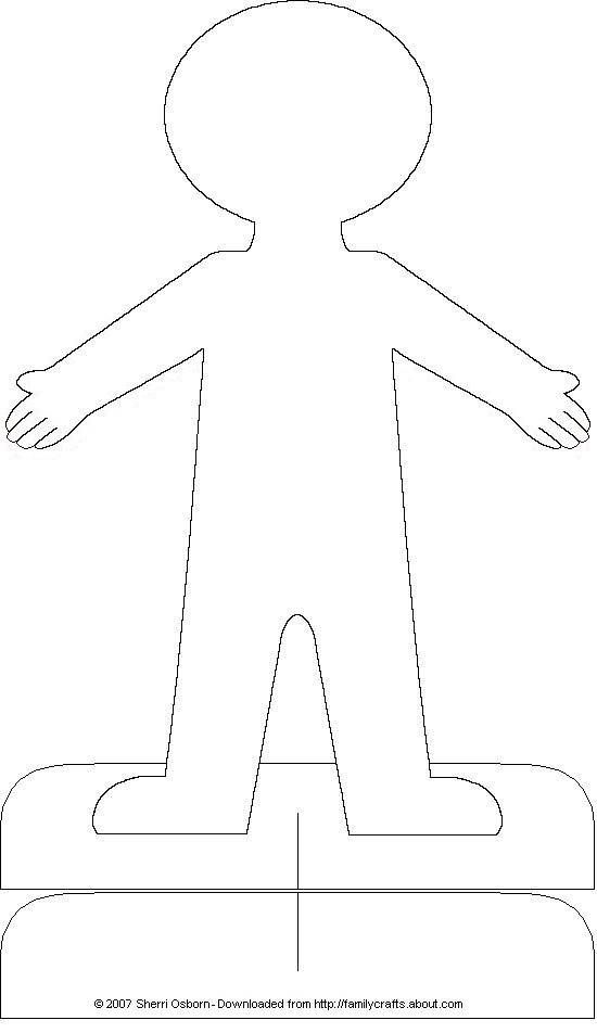Drawn paper person #7