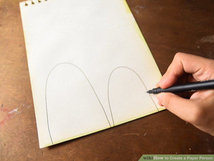 Drawn paper person Image Create Step Ways Paper