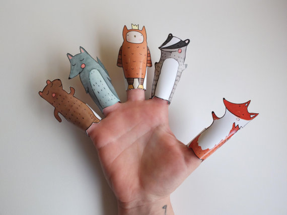 Drawn paper printable Puppets Puppets Curmilla Hand By