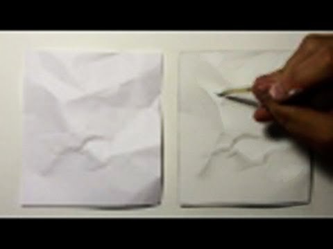 Drawn paper realistic Crumpled #1: Challenge YouTube Paper