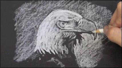 Drawn paper shading On Black White How