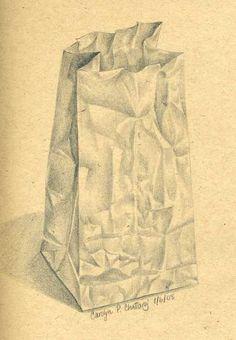 Drawn paper shading F(art) like to Pinterest crumpled
