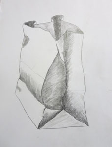 Drawn paper shading Recommend lying around that bag