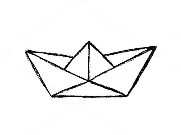 Drawn paper ship #1