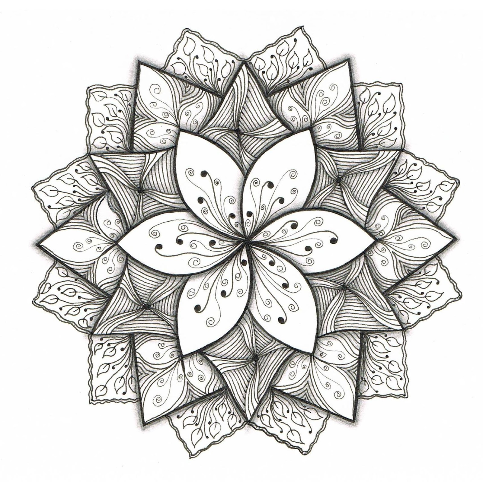 Drawn paper simple To Designs article Flower to