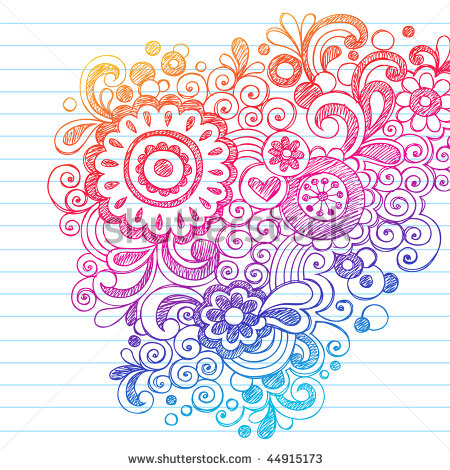 Drawn paper simple Vector Background Flowers Paper Element