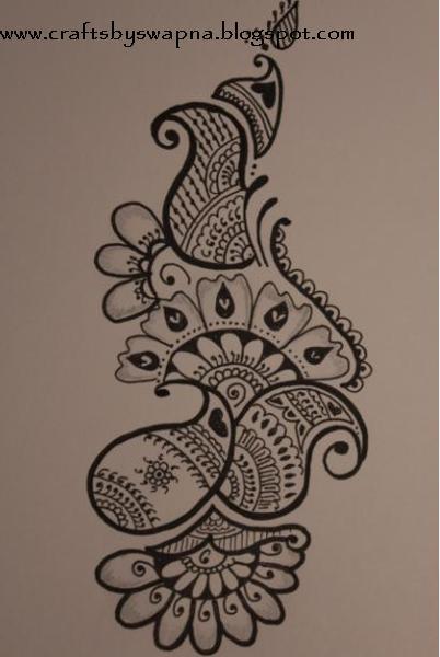 Drawn paper simple Drawn Designs com Mehndi design