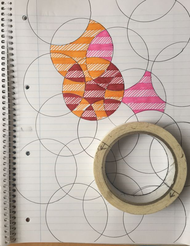 Drawn paper simple Of roll art a overlapping