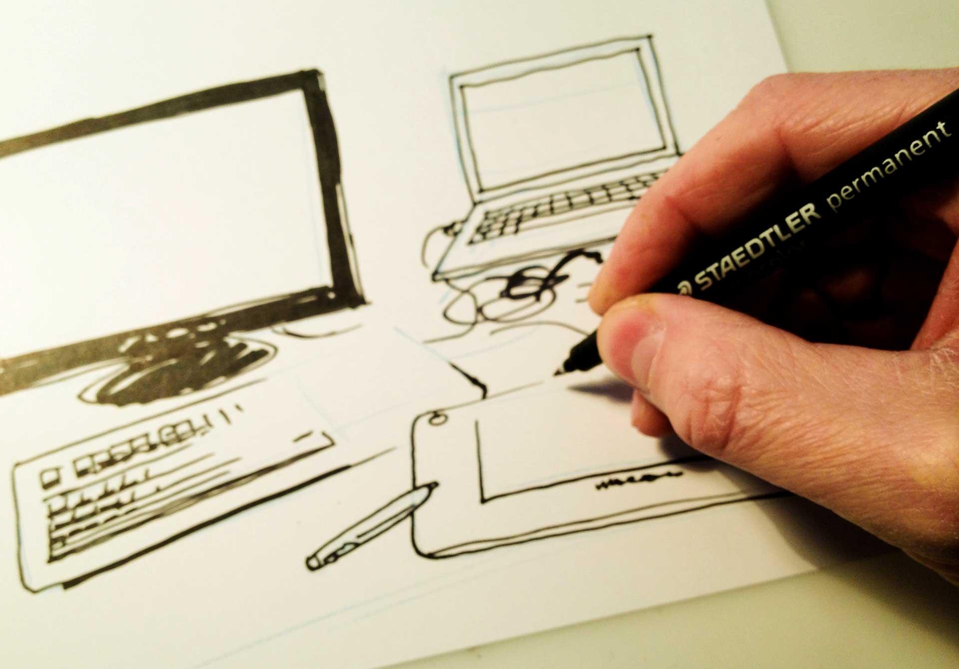 Drawn paper sketch Comics Beginners paper drawing digital