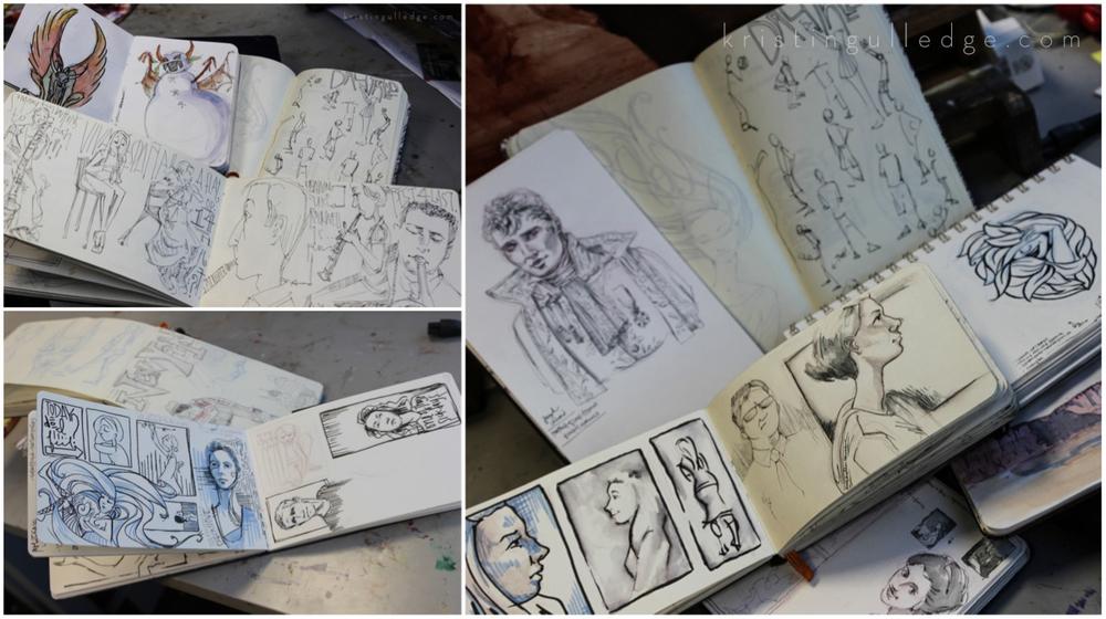 Drawn paper sketchbook Different sketchbooks 2 — this