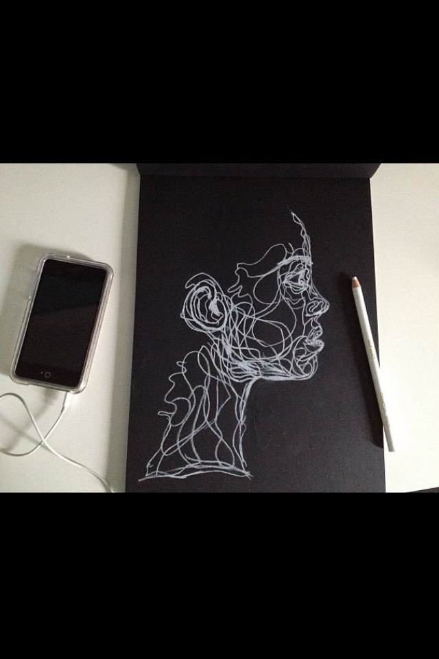 Drawn paper sketchbook White Drawing by White