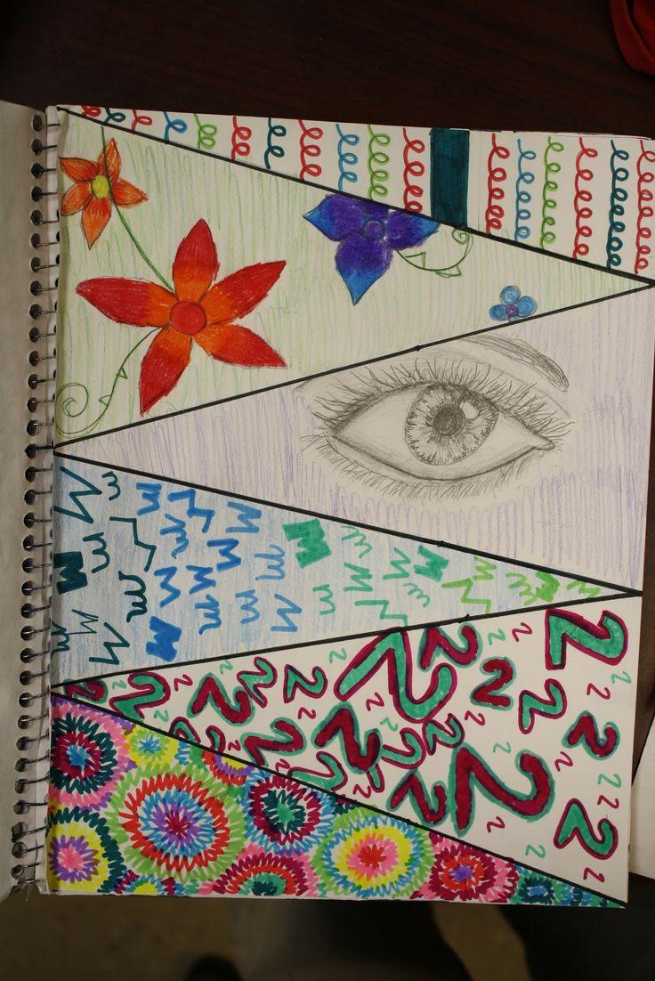 Drawn paper sketchbook Sketchbook images Sketchbook into sections