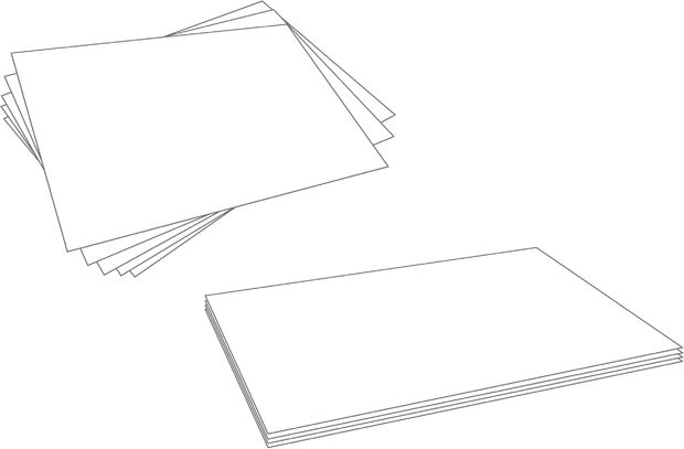 Drawn paper stack paper How to Neatly Book: Paper