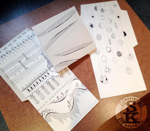 Drawn paper three Designs Pen Three Envelope