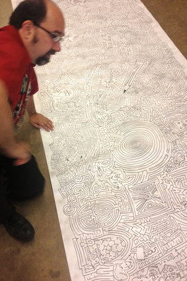 Drawn paper world's good Solvers! World's Hand Maze Largest