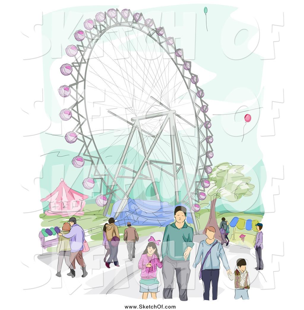 Amusement Park clipart sketch Park Amusement Amusement Drawing by
