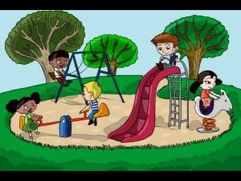 Drawn scenery park playground To Kids How a in