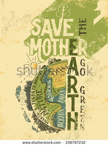 Drawn park go green Earth Mother posters Go poster