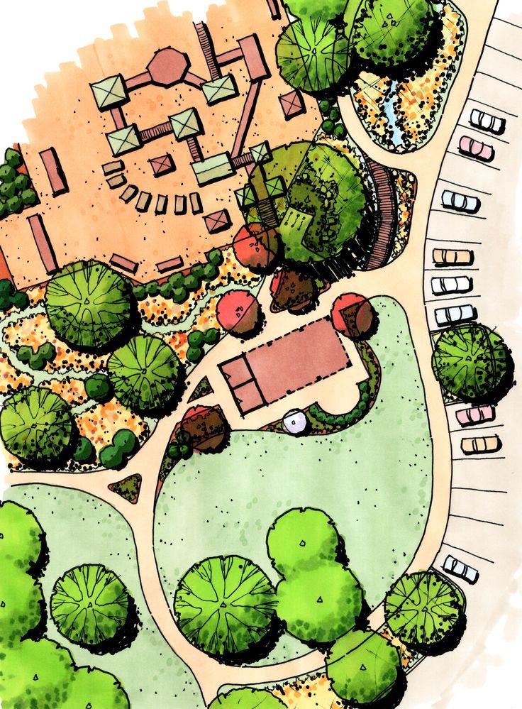 Drawn park 385 Landscape best Park Pinterest