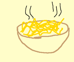 Drawn pasta (drawing by bowl pasta bowl
