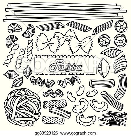 Pasta clipart drawn Textile for menu backgrounds wrapping