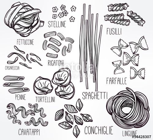Drawn pasta 21 Pinterest on best set