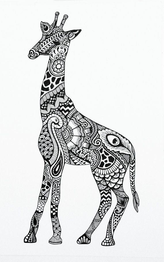 Drawn pattern Henna 25+ giraffe similar Henna