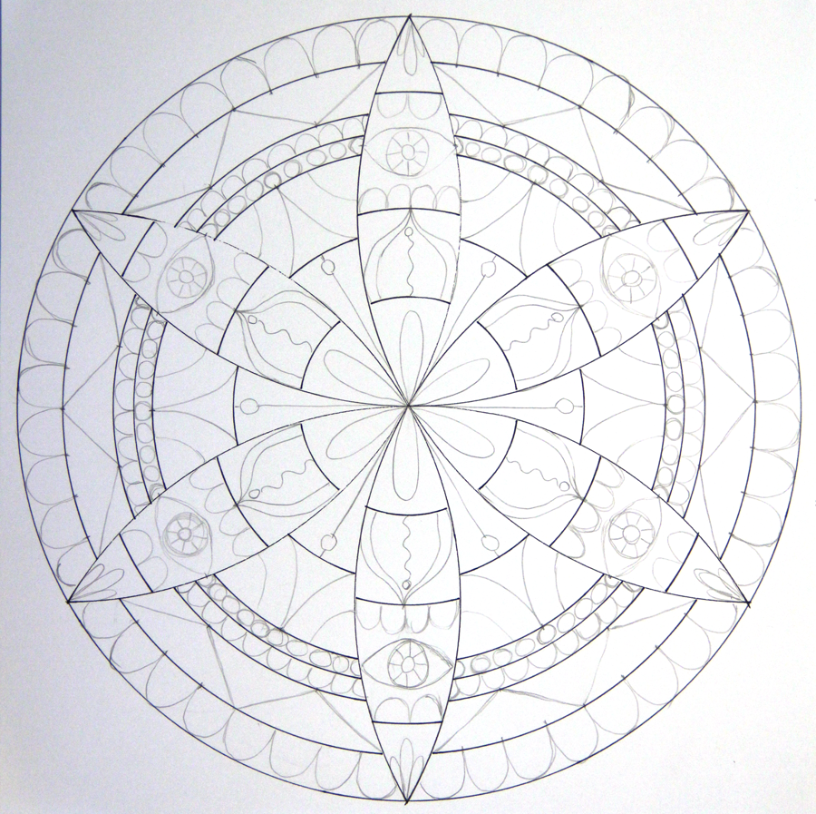 Drawn compass drawing To How Draw a Compass