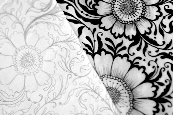 Drawn background flower designer Designs Tutorial Floral/Flourish Junoon This