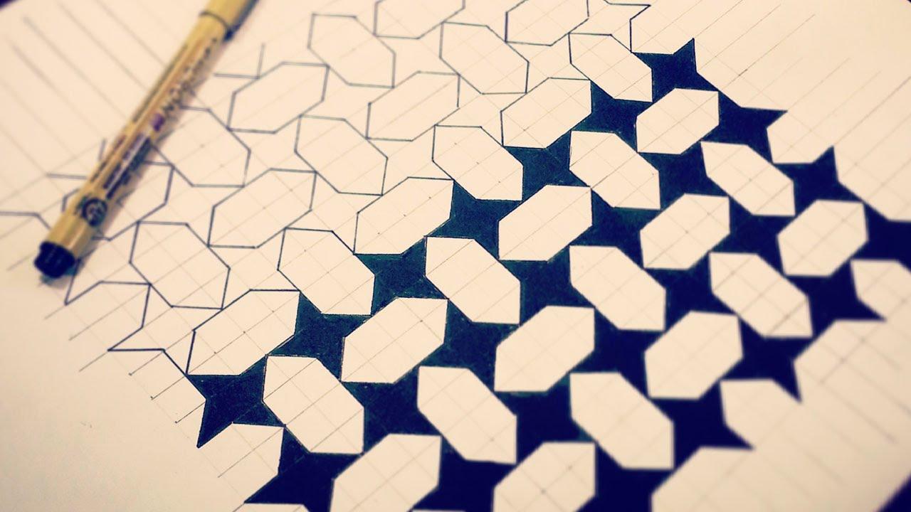 Drawn diamond Stars Narrated) & & Pattern
