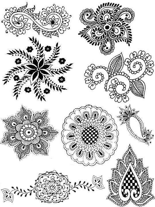 Drawn pattern indian 25+ Pinterest Indian patterns elements