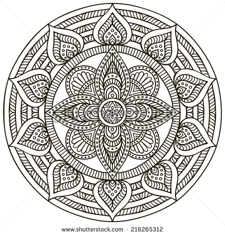 Drawn pattern indian Elements decorative Hand Pattern Ornament