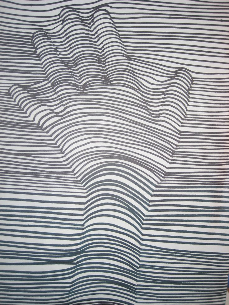 Drawn pattern On Line School and on