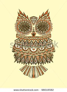 Drawn owl tribal #2