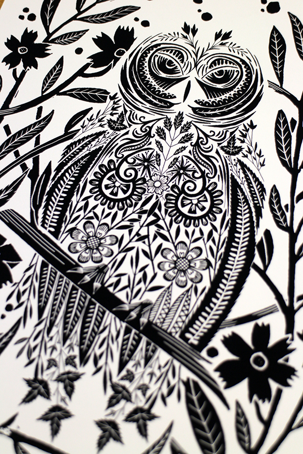 Drawn owl pattern #4