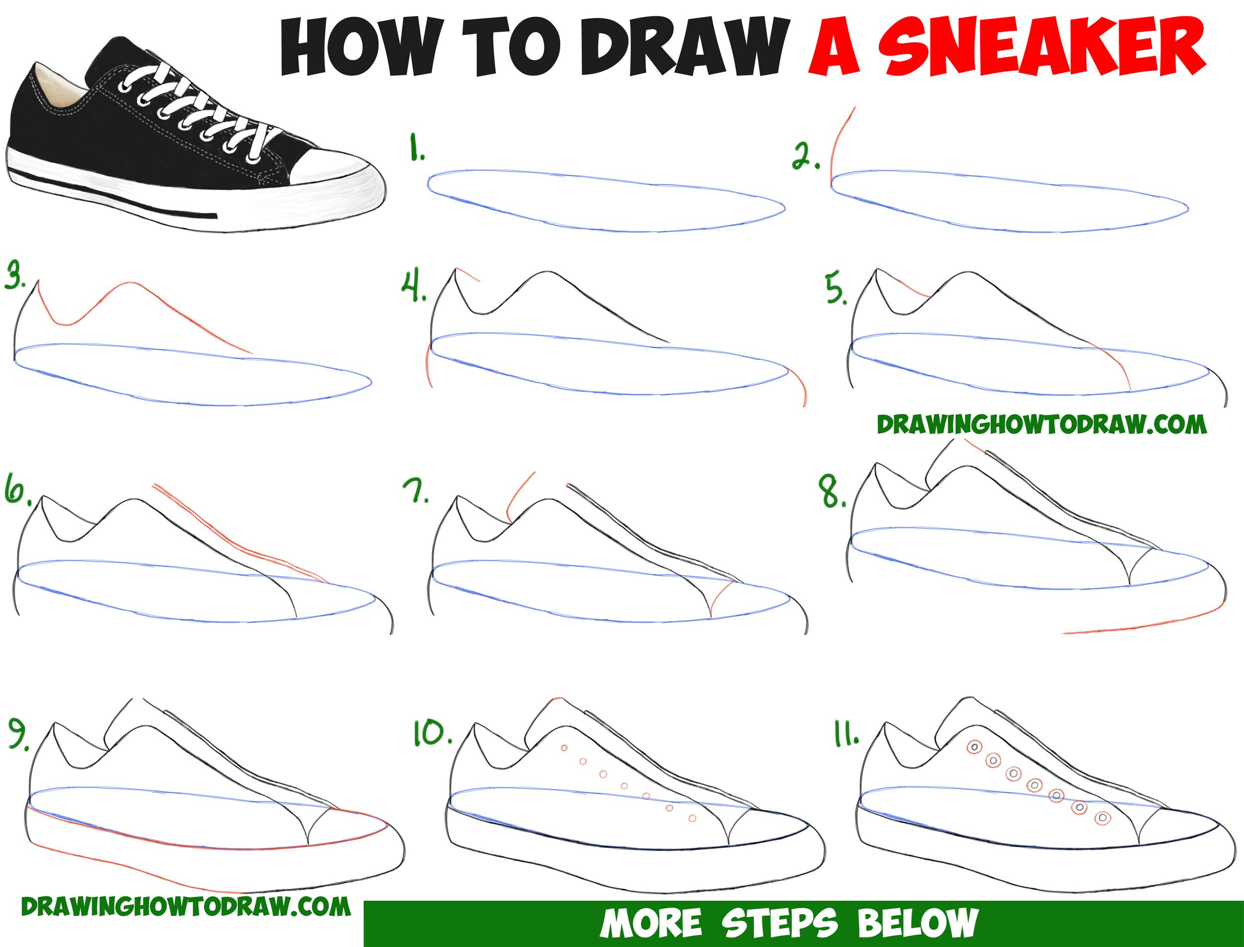 Drawn sneakers easy Sneakers Tutorial Best Draw /